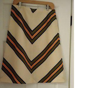 Vintage Knit Chevron Stripe Skirt